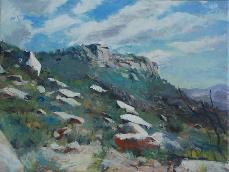 Mountain Painting - Granite Mountain by Marilyn Muller