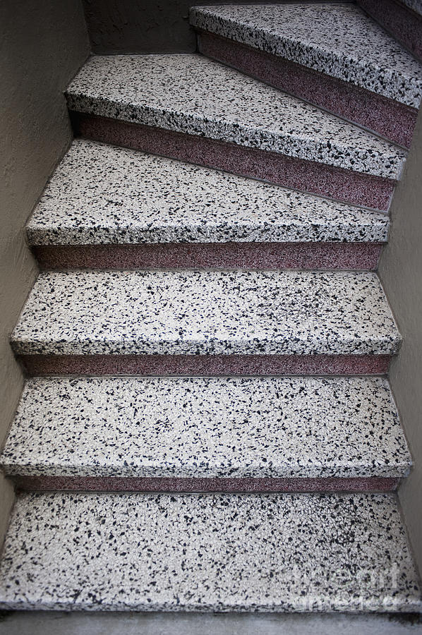 Architectural Detail Photograph - Granite Stairs by Sam Bloomberg-rissman