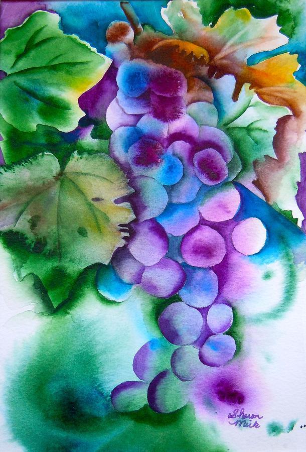 Grape Painting - Grape Harvest by Sharon Mick
