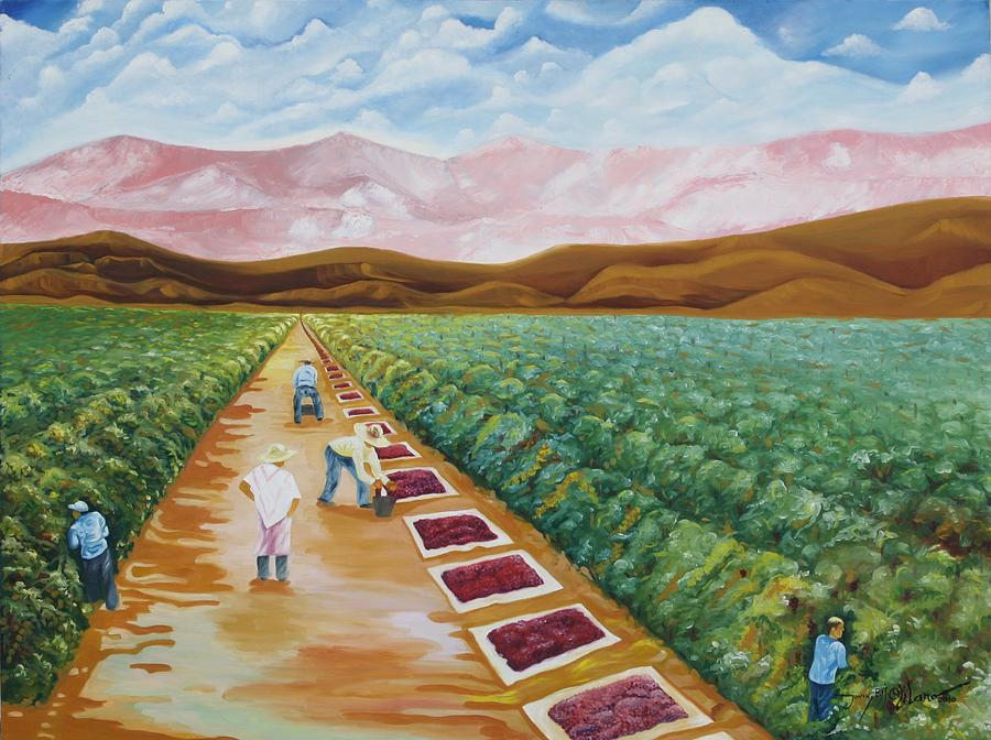 Farmers Painting - Grapes Farmers by Johnny Otilano
