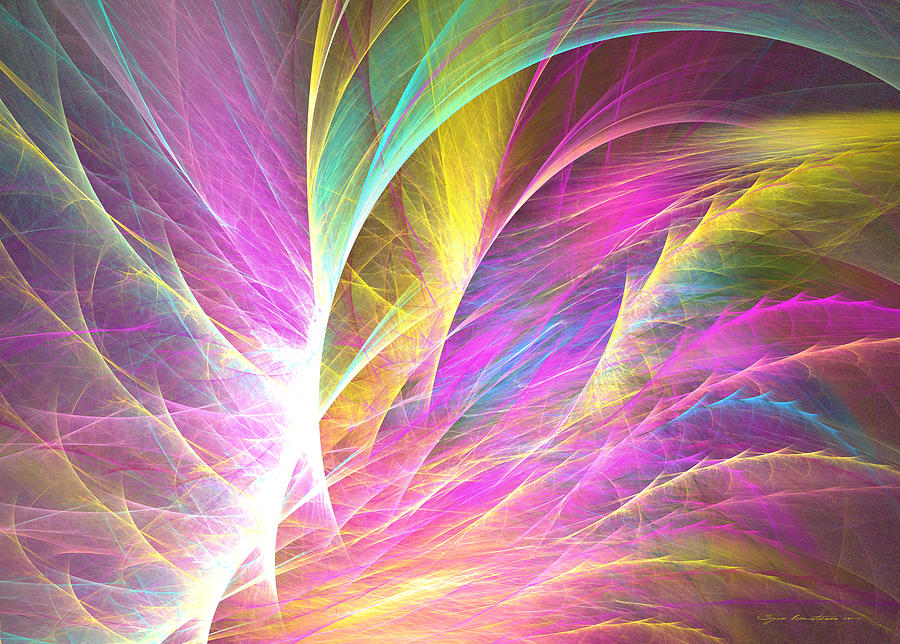 Fractal Digital Art - Grass Of Dreams by Sipo Liimatainen