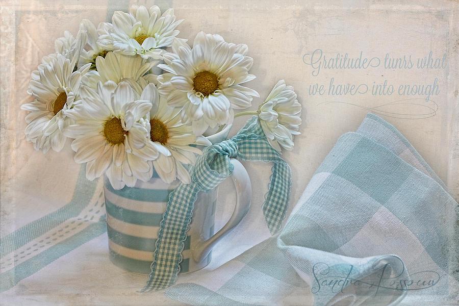 Flowers Photograph - Gratitude by Sandra Rossouw