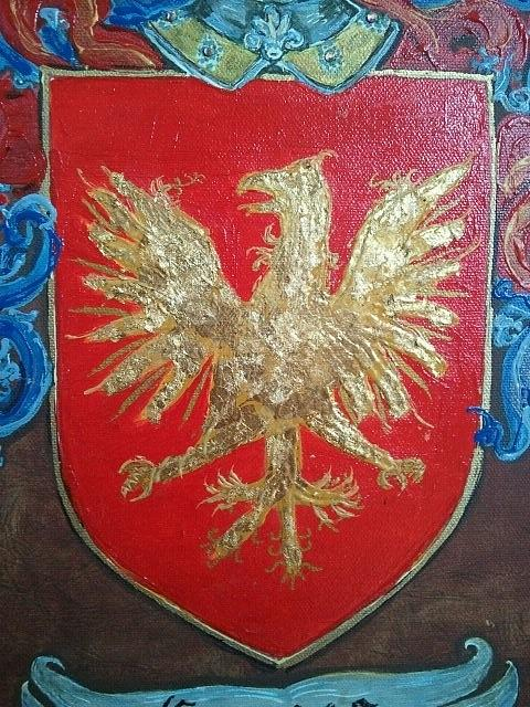 Graves Family Coat Of Arms Close Up Painting By Nancy Rutland