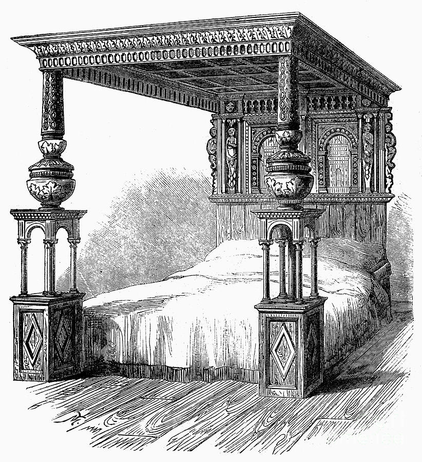 1590 Photograph - Great Bed Of Ware, C1590 by Granger