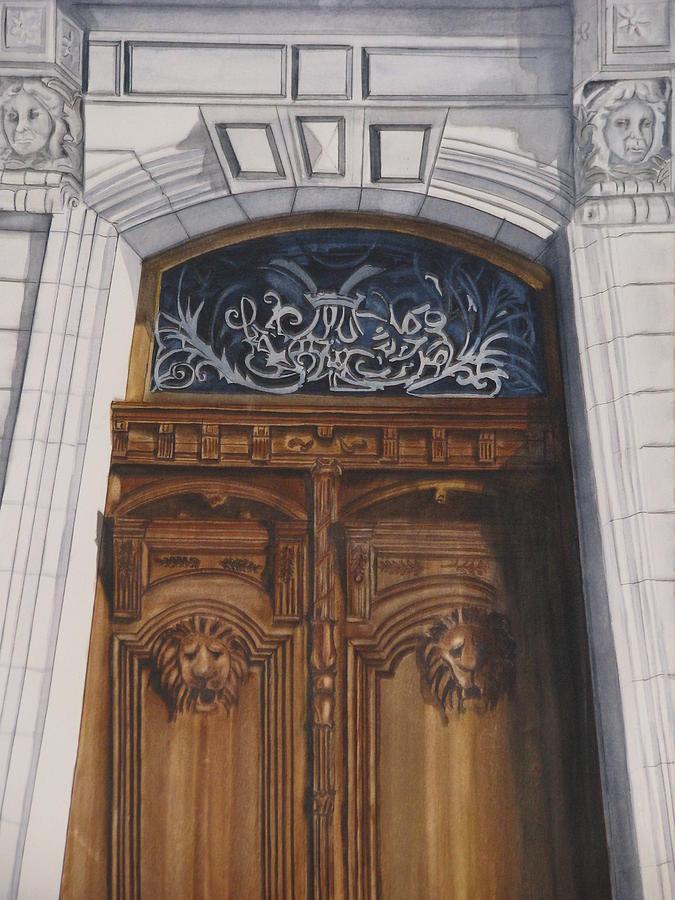 Door Painting - Great Door by Emmanuel Turner