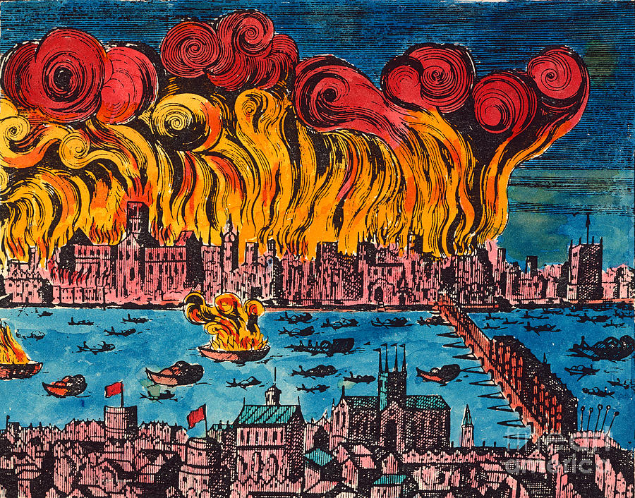 Great fire of London 350th anniversary: The 1666 fire ... |Impressionist Fire London