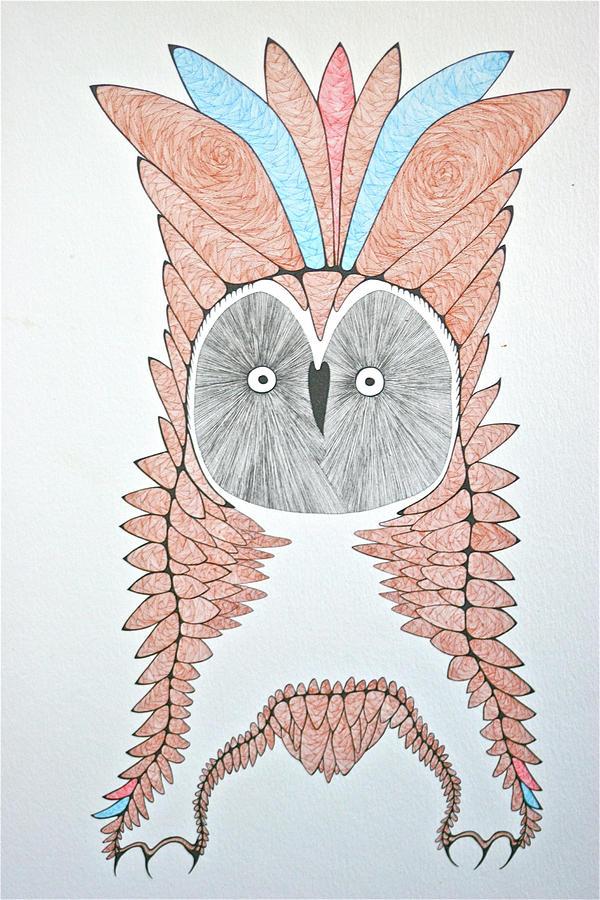 Great Grey Owl Drawing by Antonio Casu