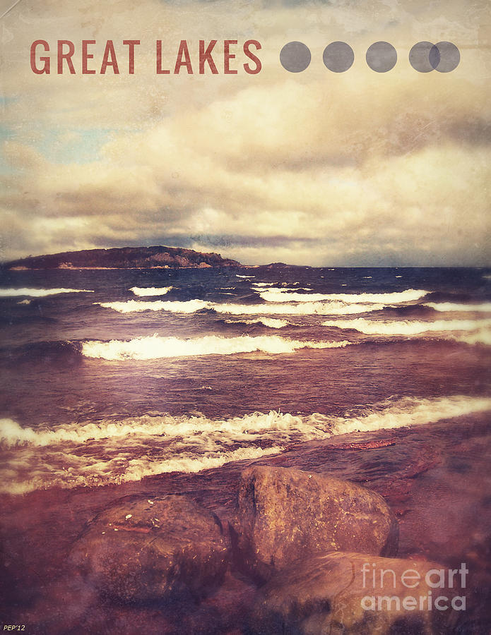 Graphic Design Photograph - Great Lakes by Phil Perkins