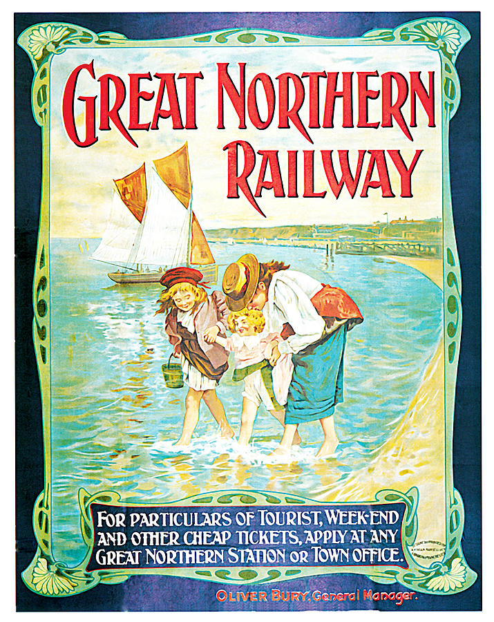 John Hayes Painting - Great Northern Railway by John Hayes