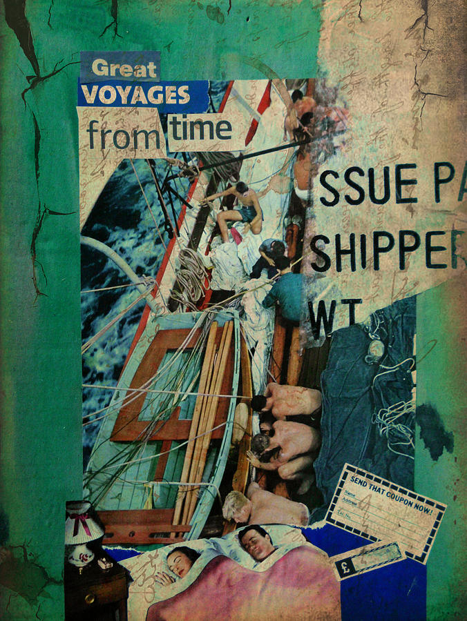 Sea Mixed Media - Great Voyages From Time by Adam Kissel