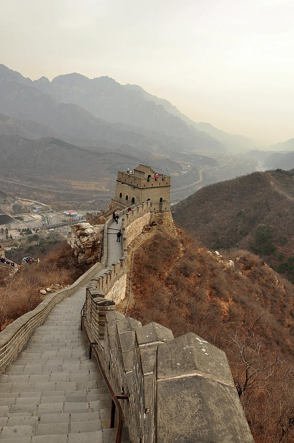 Vertical Photograph - Great Wall Of China by Asifsaeed313