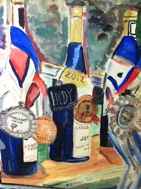 Wine Painting - Great Wines At Cross Keys by Bob Smith