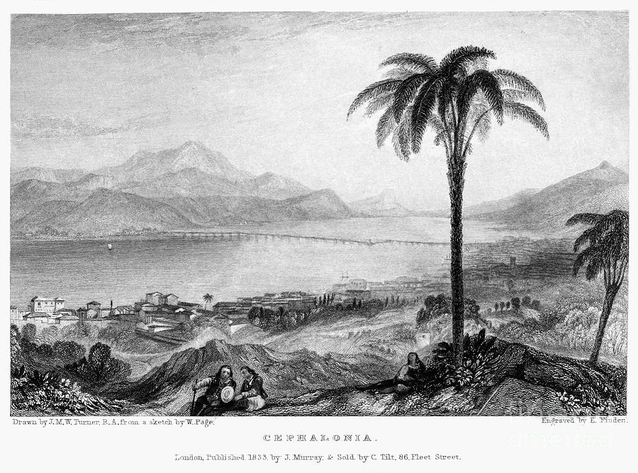 1833 Photograph - Greece: Kefalonia, 1833 by Granger