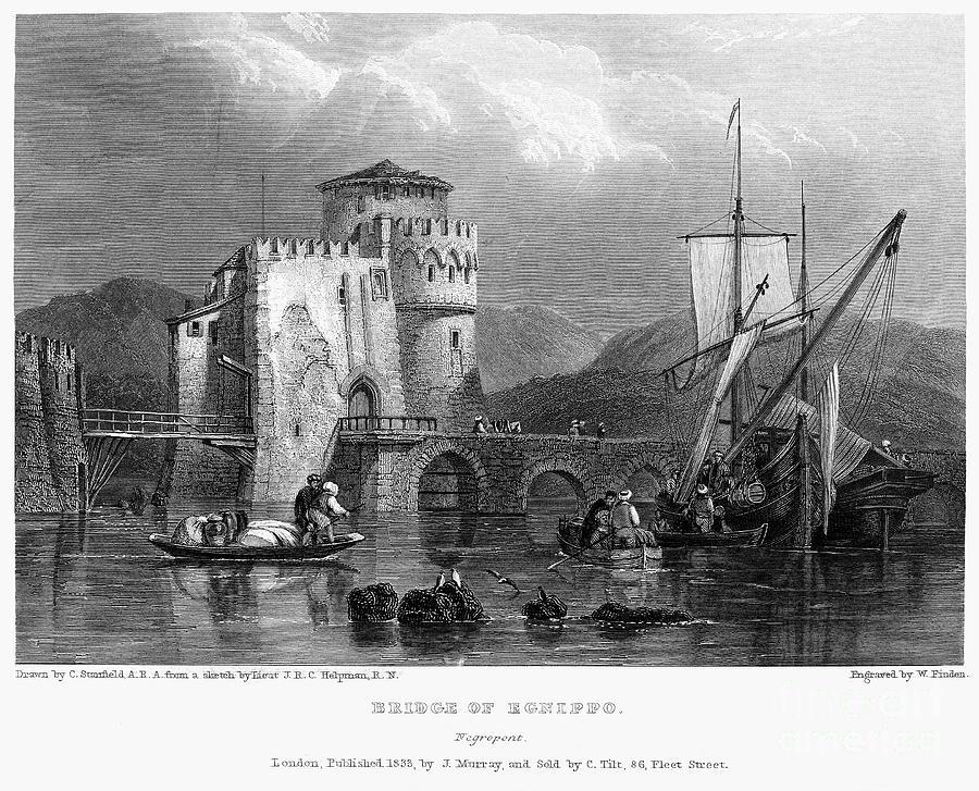 1833 Photograph - Greece: Negropont, 1833 by Granger