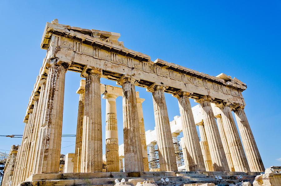 Greece Partheon Photograph by Johnny Sandaire