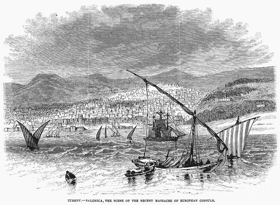 1876 Photograph - Greece: Salonika, 1876 by Granger