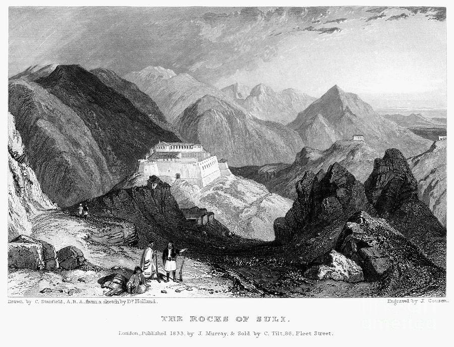 1833 Photograph - Greece: Souli, 1833 by Granger