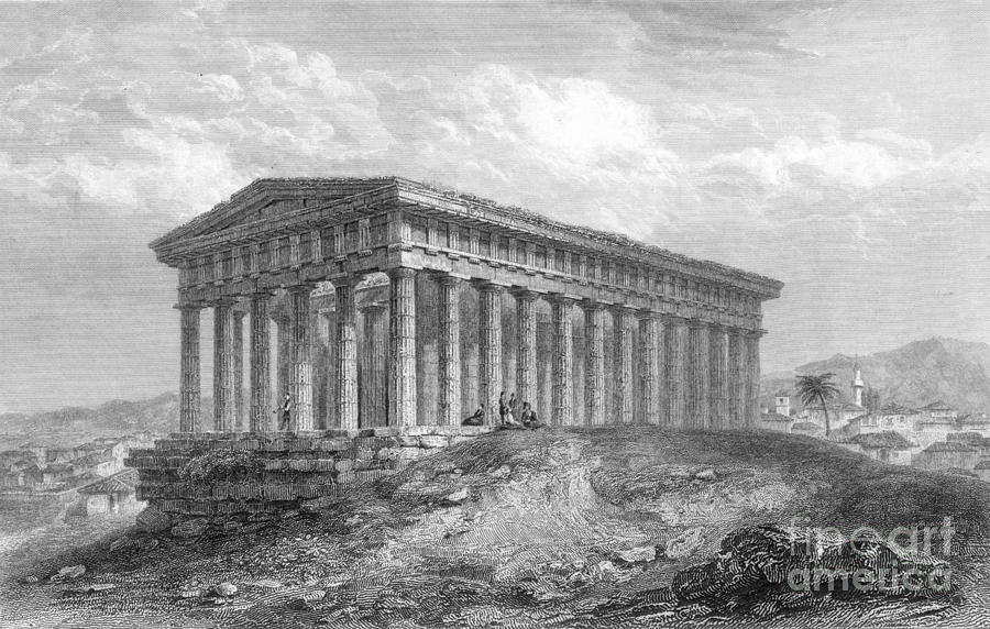 1833 Photograph - Greece: Temple Ruins by Granger