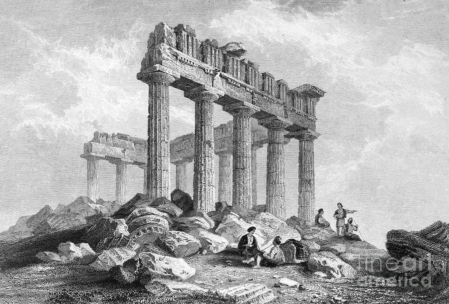 1833 Photograph - Greece: The Parthenon 1833 by Granger
