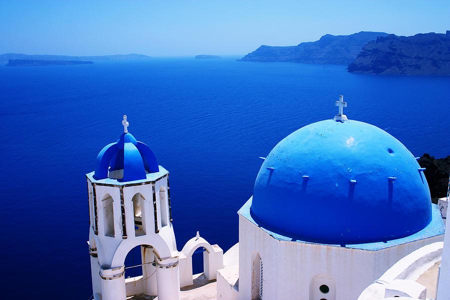 Greek Blue Photograph By Paul Cowan