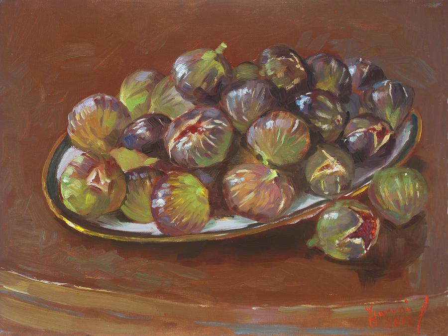 Figs Painting - Greek Figs by Ylli Haruni