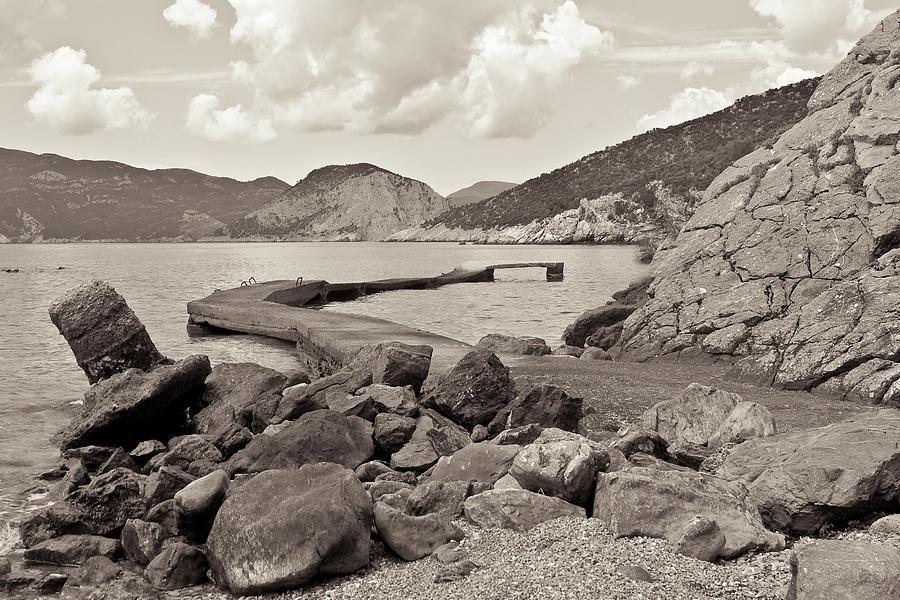 Aegean Photograph - Greek Harbour by Tom Gowanlock