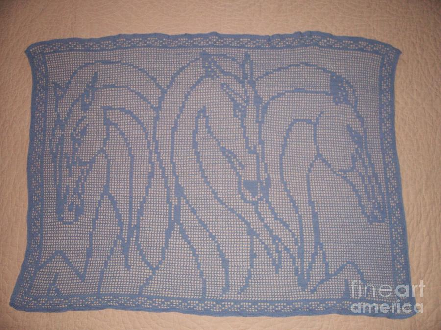 Horse Tapestry - Textile - Greek Horses by Becky Furr