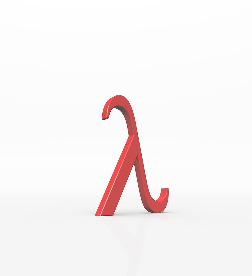 artwork photograph greek letter lambda lower case by david parker