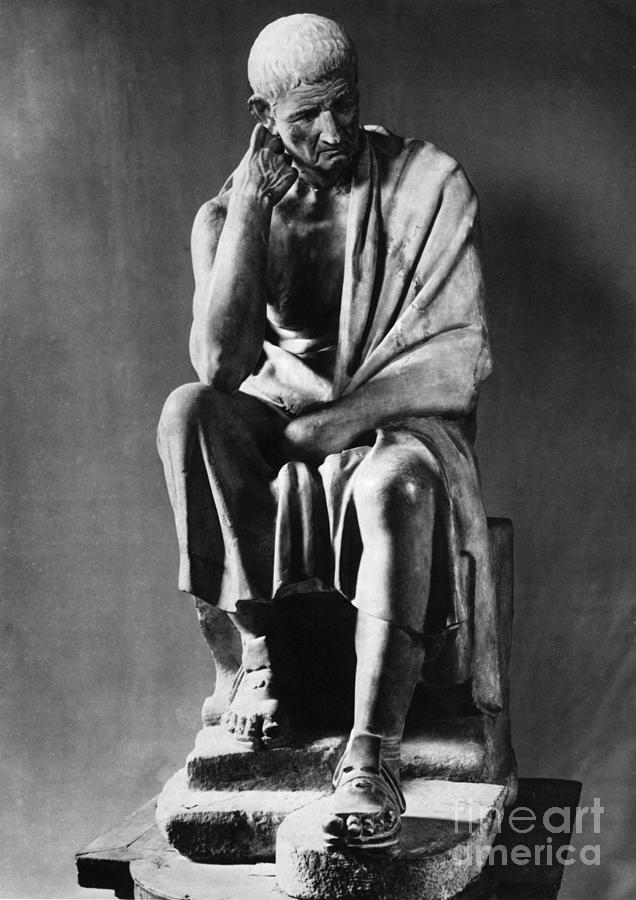 Greek Photograph - Greek Philosopher by Photo Researchers