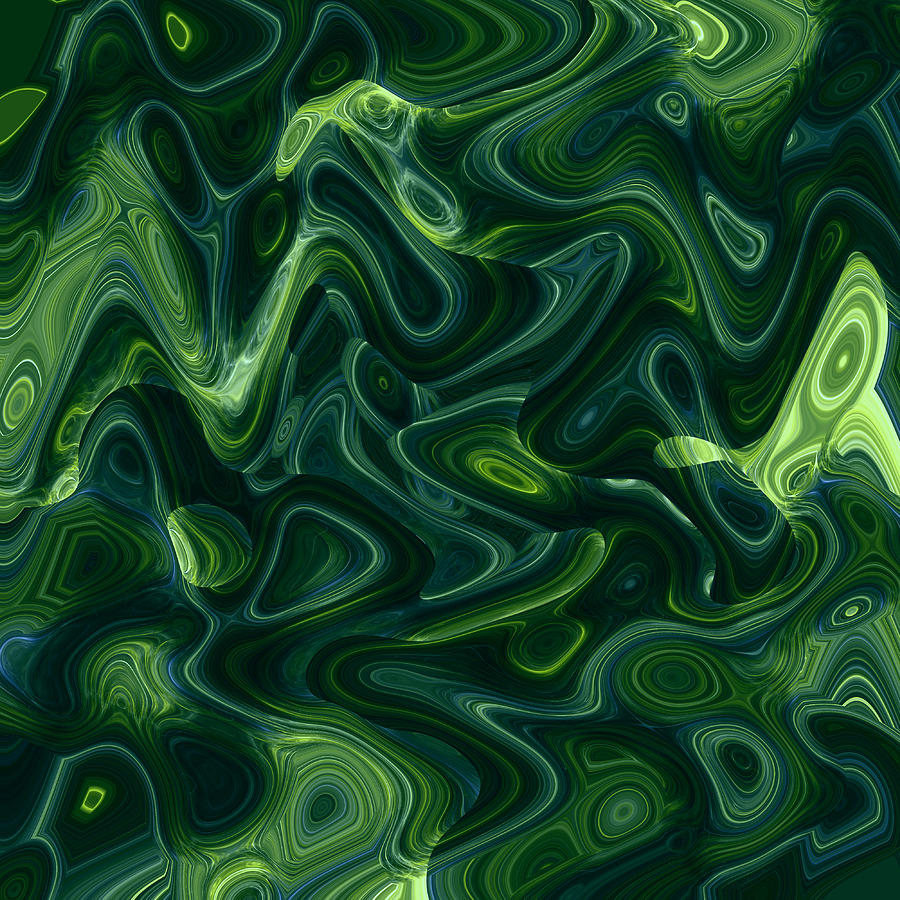 Green Abstract Digital Art By Steve K