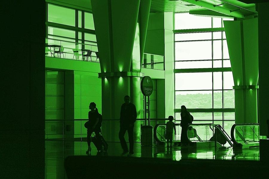 Green Photograph - Green Airport by Ron Morales