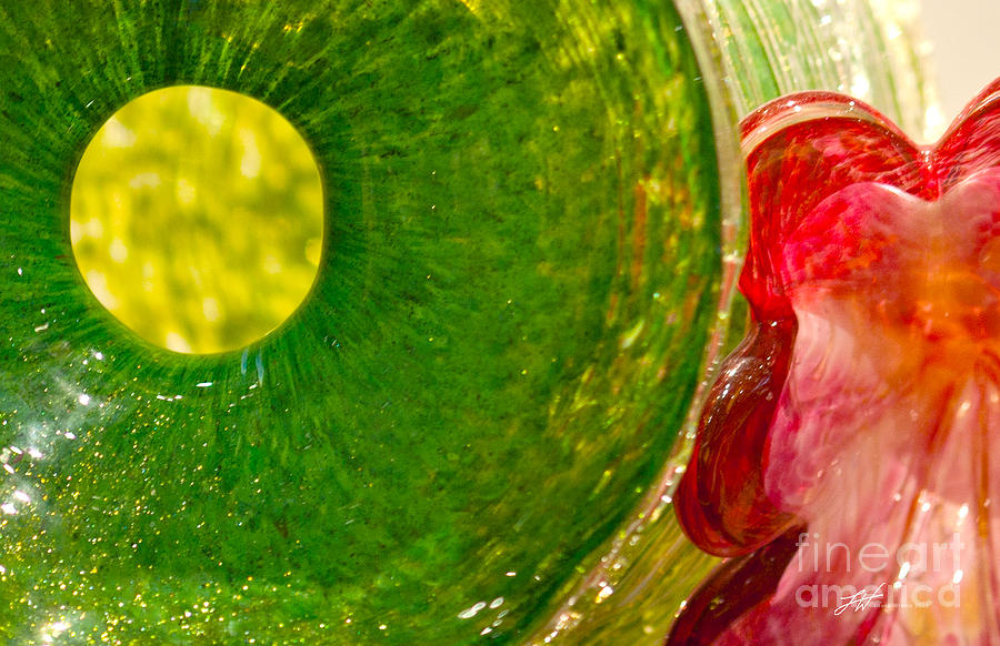 Art Glass Photograph - Green And Red by Artist and Photographer Laura Wrede