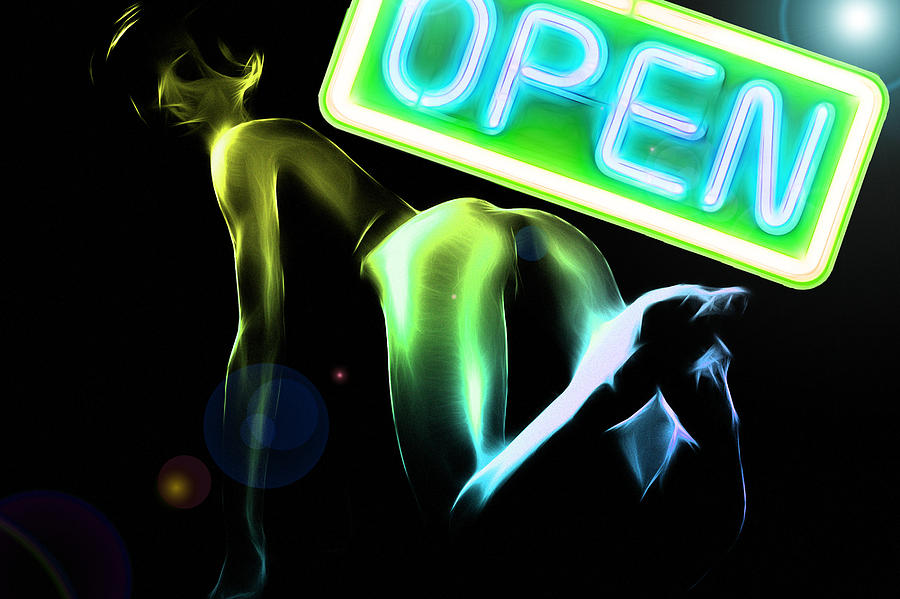 Green Butt Digital Art by Steve K