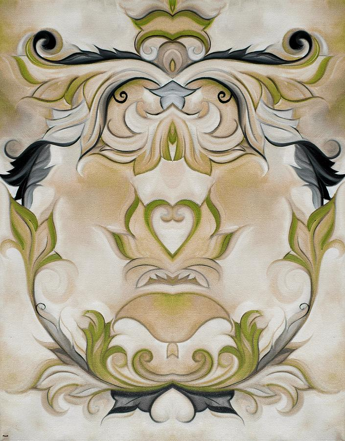 Green country french wall decor painting by heidi vaught for French country wall paint colors