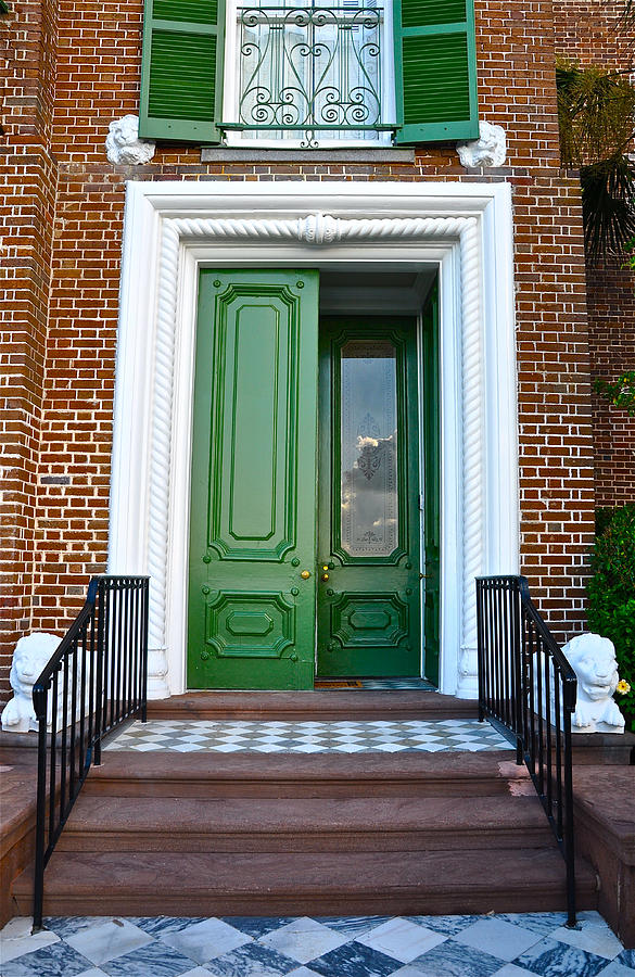 Green Door Charleston Photograph by Lori Kesten