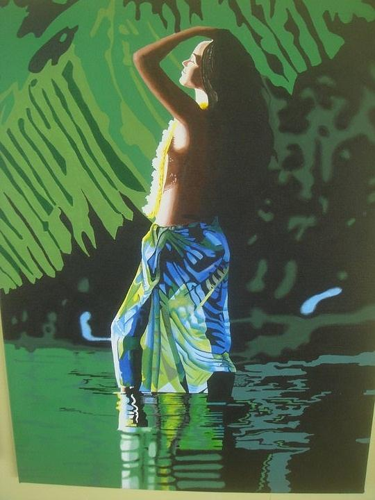 Beautiful Painting - Green Goddess by Alix Barker