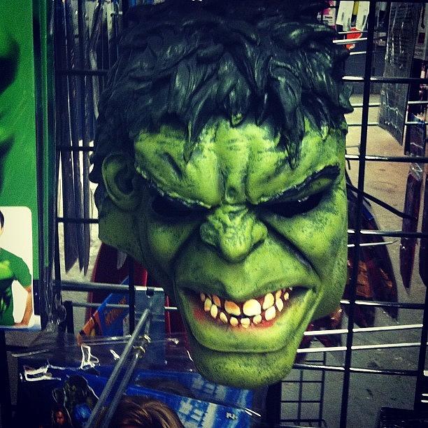 Me Photograph - #green #hulk #green #mask #comic by Alex Mamutin