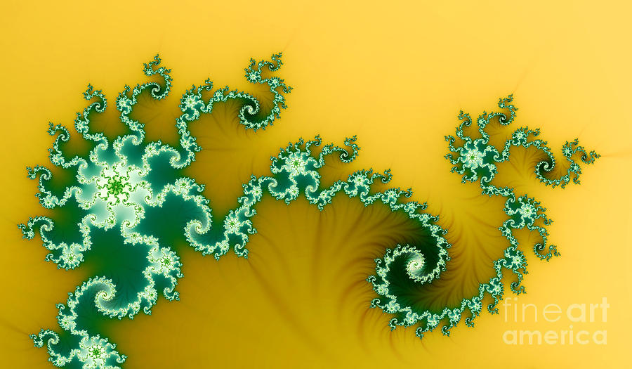 Nature Digital Art - Green In The Yellow by Odon Czintos
