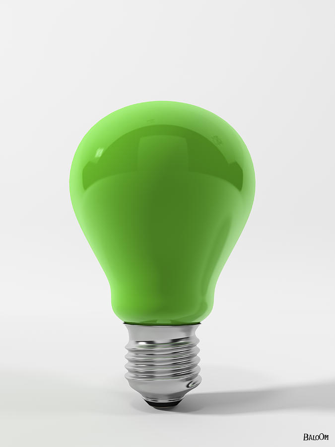 Green Lamp Painting : Green lamp in cgi digital art by baloom animation studios