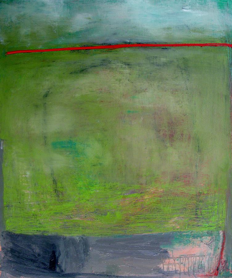 Green Painting - Green Landscape Over The Eastern Plain by Brooke Wandall