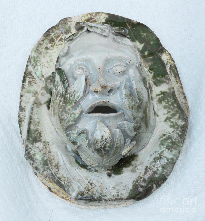 Green Man 3 Sculpture by John Keasler