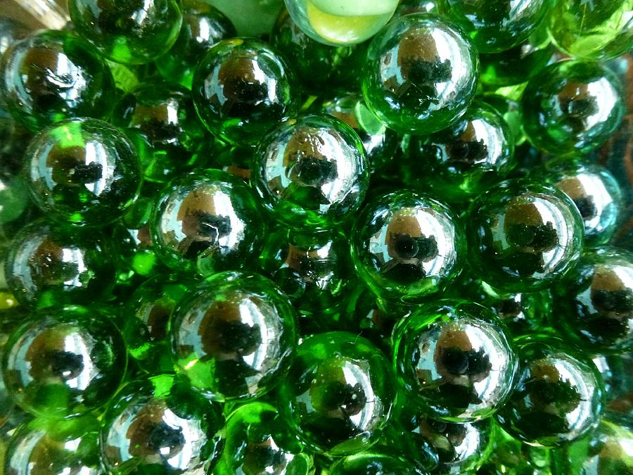 Green Marbles Photograph By Ed Lukas