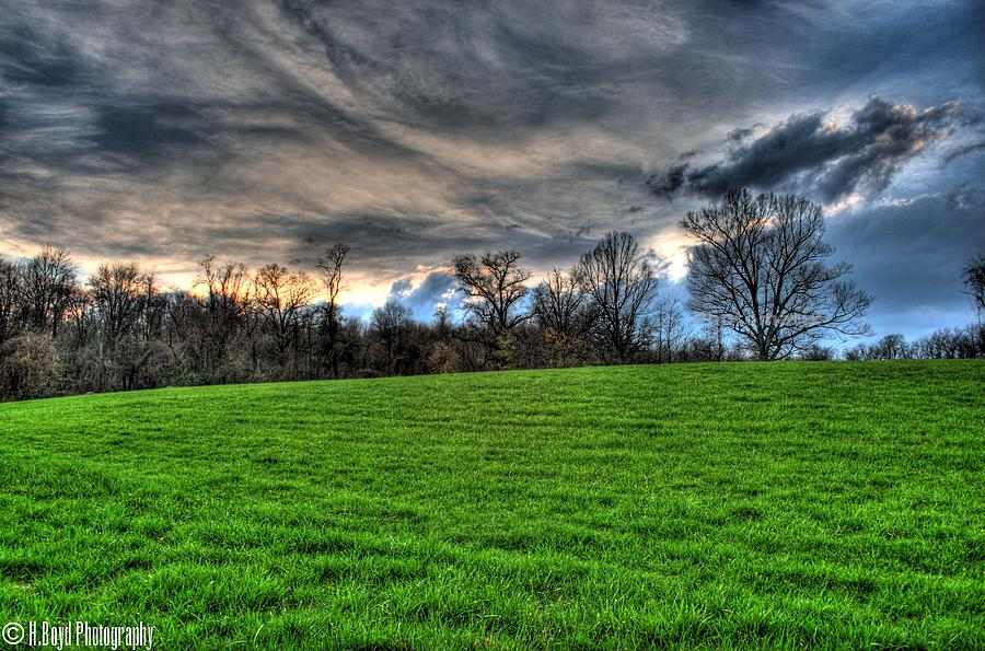 Landscape Photograph - Green Meets Blue by Heather  Boyd