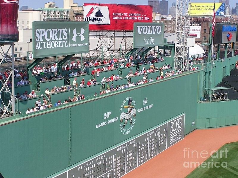 Baseball Photograph - Green Monster by Kevin Fortier