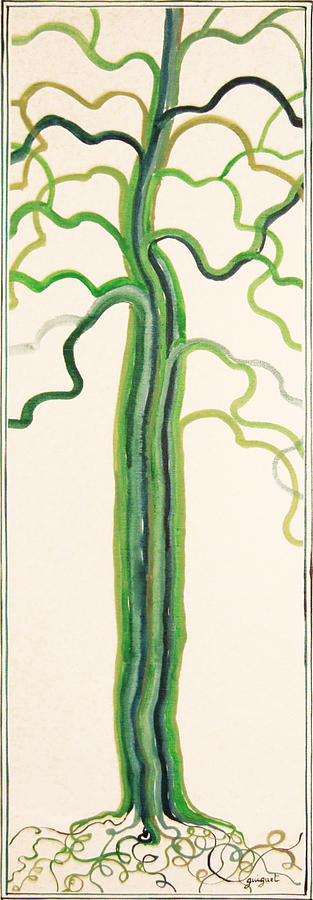 Nature Painting - Green Sap by Alain Guiguet