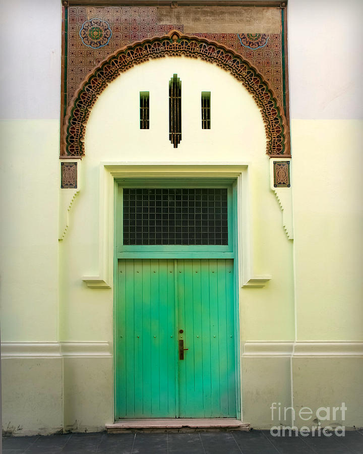 Door Photograph - Green Spanish Doors by Perry Webster