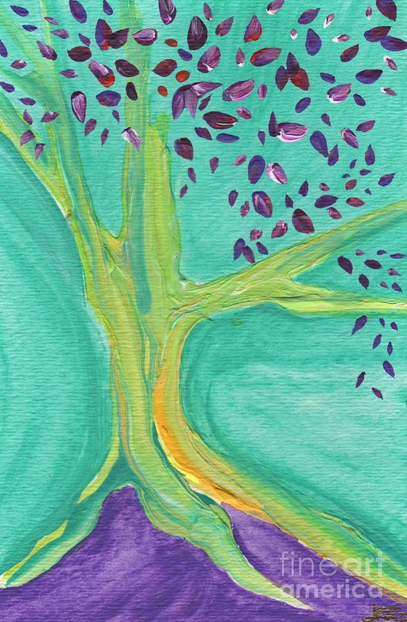 First Star Painting - Green Tree by First Star Art