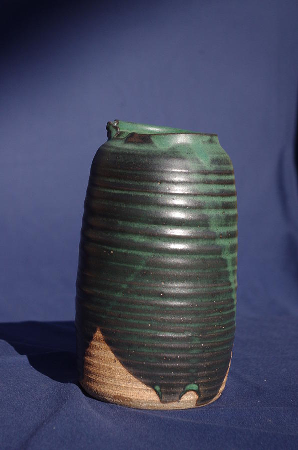 Ceramic Ceramic Art - Green Vase by Rick Ahlvers