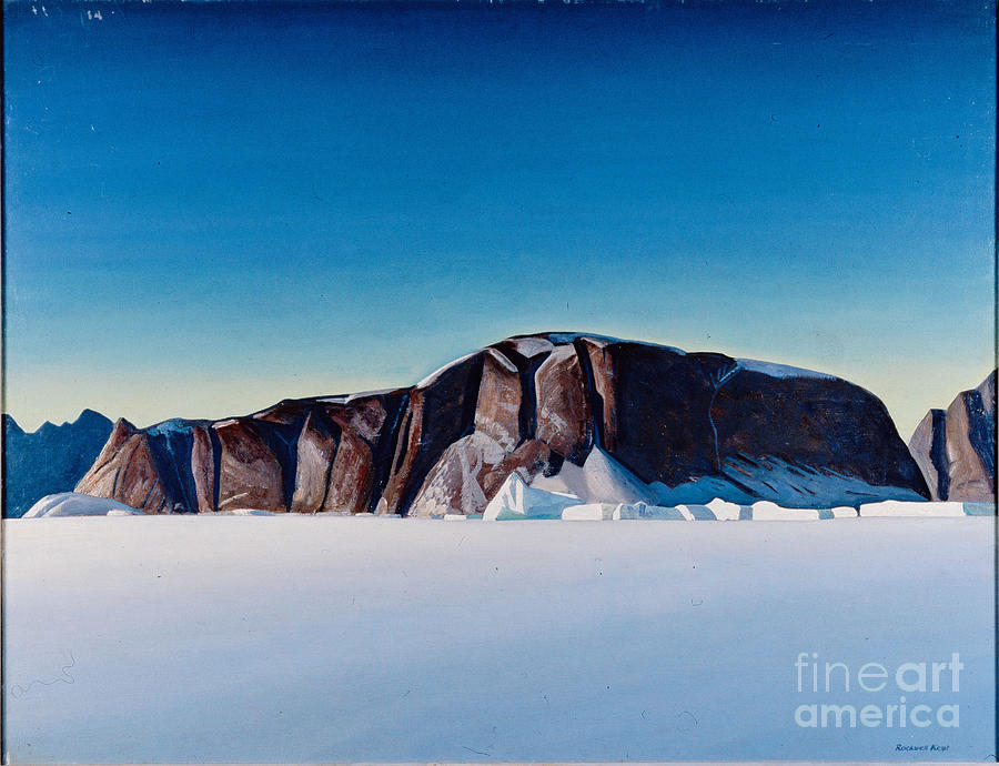 Snow Painting - Greenland Coast by Kent Rockwell