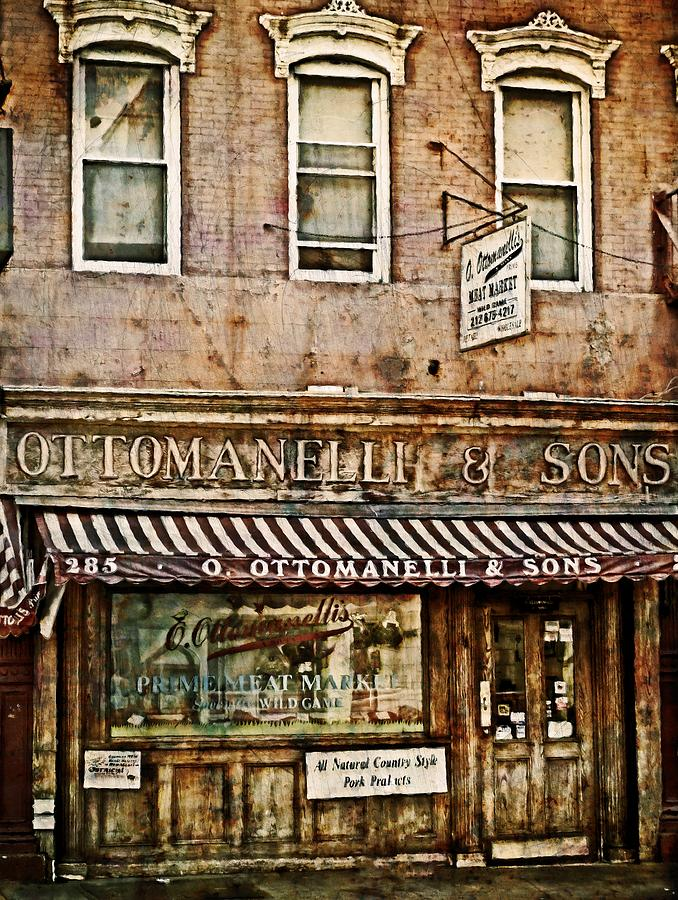 New York Photograph - Greenwich Village Meat Market by Kathy Jennings